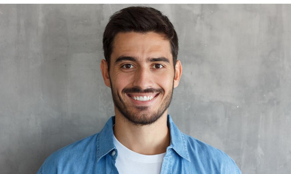 LANAP dentist near me | Happy man smiling.